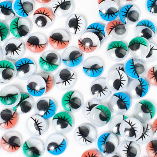 100 yeux à cils 10mm