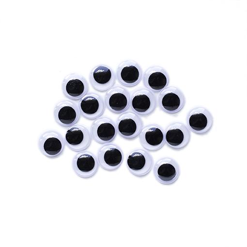 20 yeux noirs non adhésifs 15mm