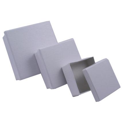 Boites carton carrées -lot de 3-