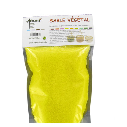 Sable végétal jaune