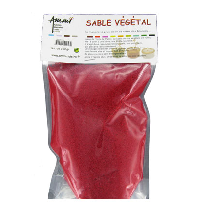 Sable végétal rouge