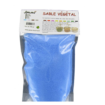 Sable végétal bleu