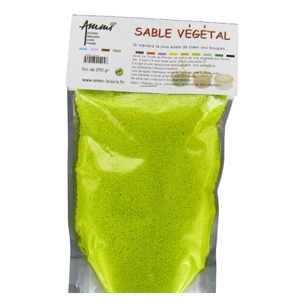 Sable végétal vert anis