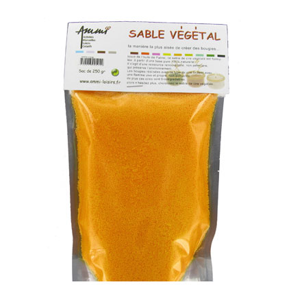 Sable végétal orange