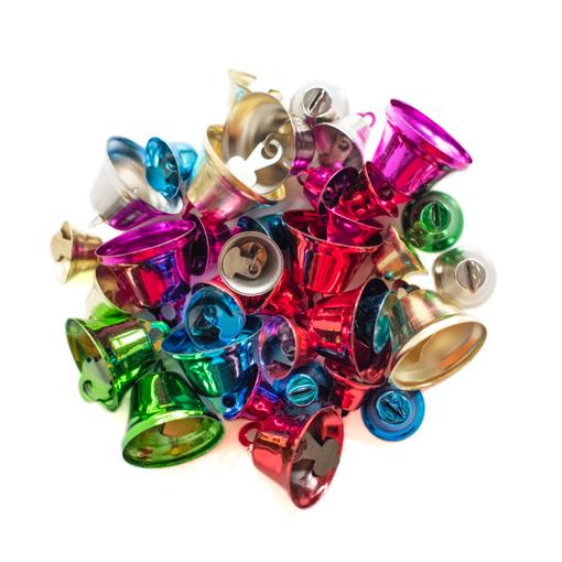 36 clochettes tailles et couleurs assorties