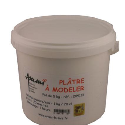 Plâtre à mouler -pot 5kg-