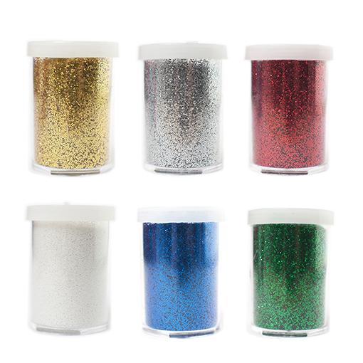 Paillettes poudre 6 couleurs