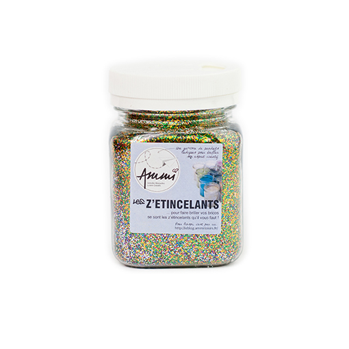 Paillettes multicolore 115 grs