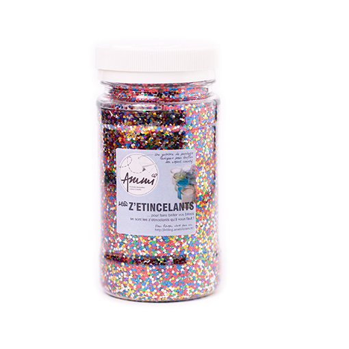 Paillettes multicolores 150grs