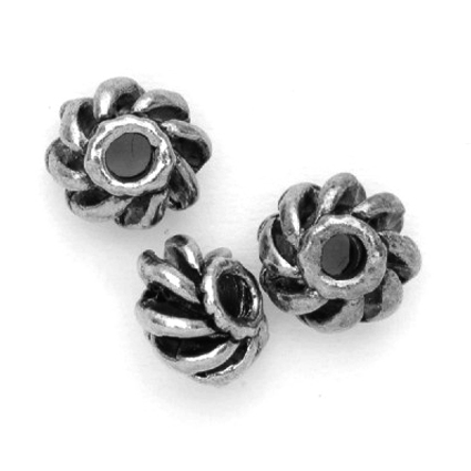 Perles métal rondes