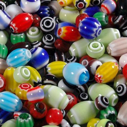 Perles verre chevrons