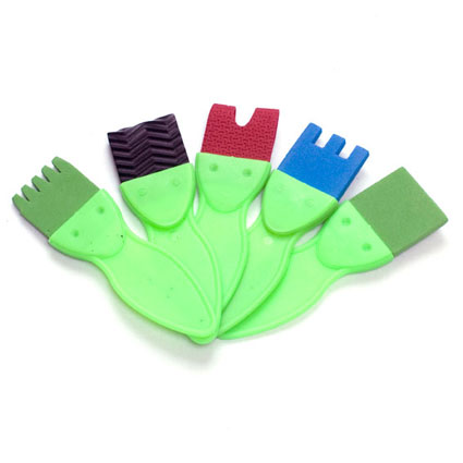 Lot de 5 brosses fantaisie 37mm