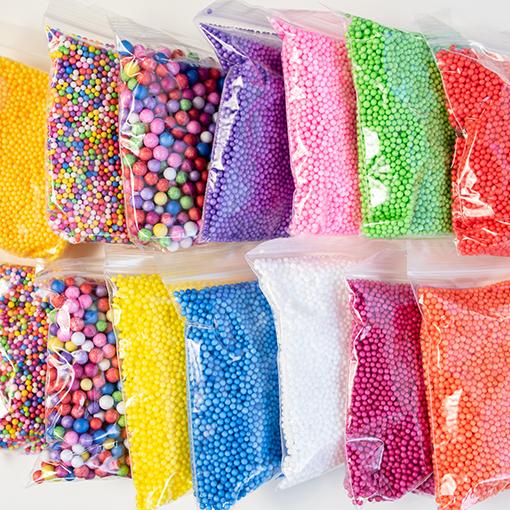 Billes polystyrène coloré
