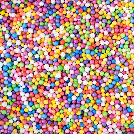 Billes polystyrène multicolore
