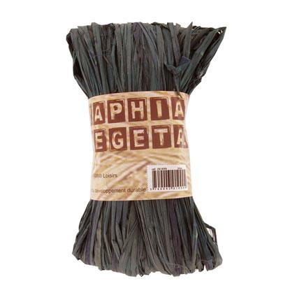 Raphia végétal noir