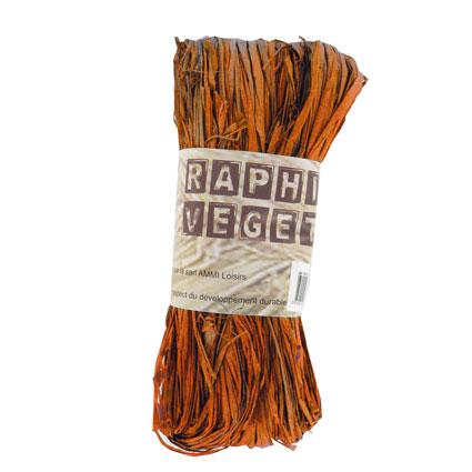 Raphia végétal orange