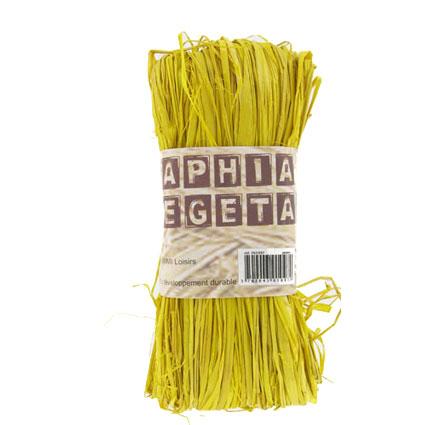 Raphia végétal jaune
