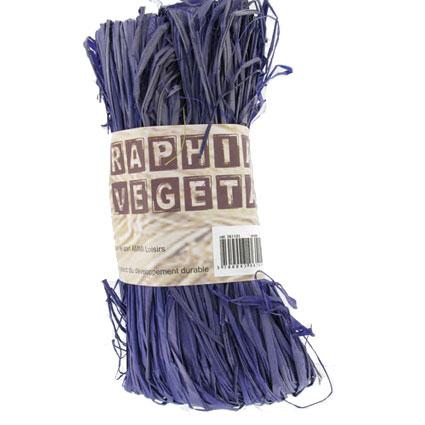 Raphia végétal violet